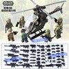 DR TONG 80pcs Lot DLP9061 MILITARY Soldier Army WW2 Weapon Mini Building Blocks Brick Figures Educational