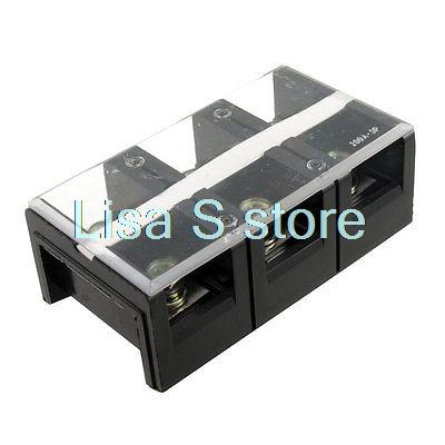 Double Row 3 Position Screw Barrier Terminal Strip Block 600V 200A holiday depilatory парафин медовый holiday depilatory р012 1000 мл