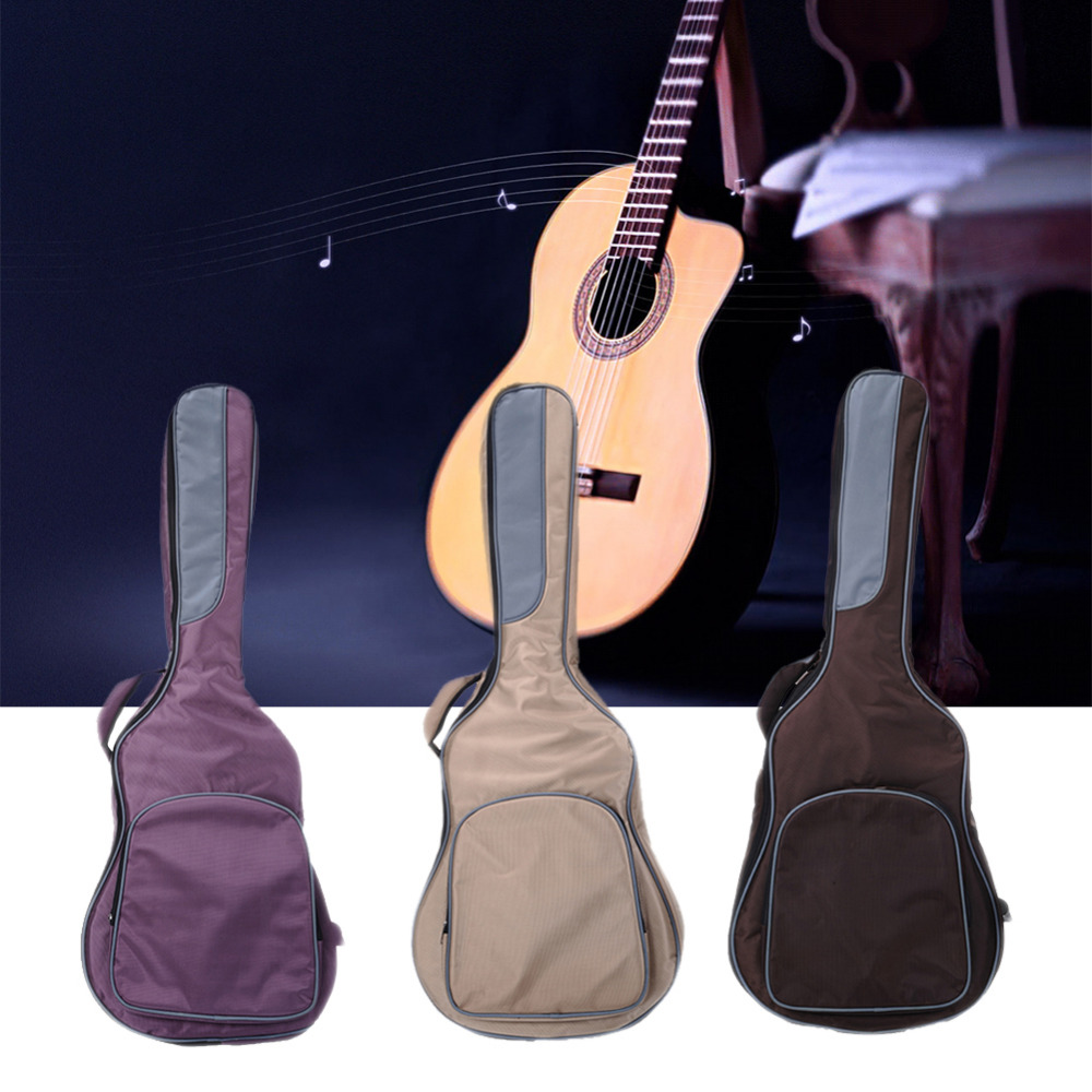 41 inch High-end Guitar Bag Guitar Backpack Luxury Use 160D Breathable Fabric Support Wholesale With Big Count(no packaging) pattern thicken waterproof soprano concert tenor ukulele bag case backpack 21 23 24 26 inch ukelele accessories guitar parts gig