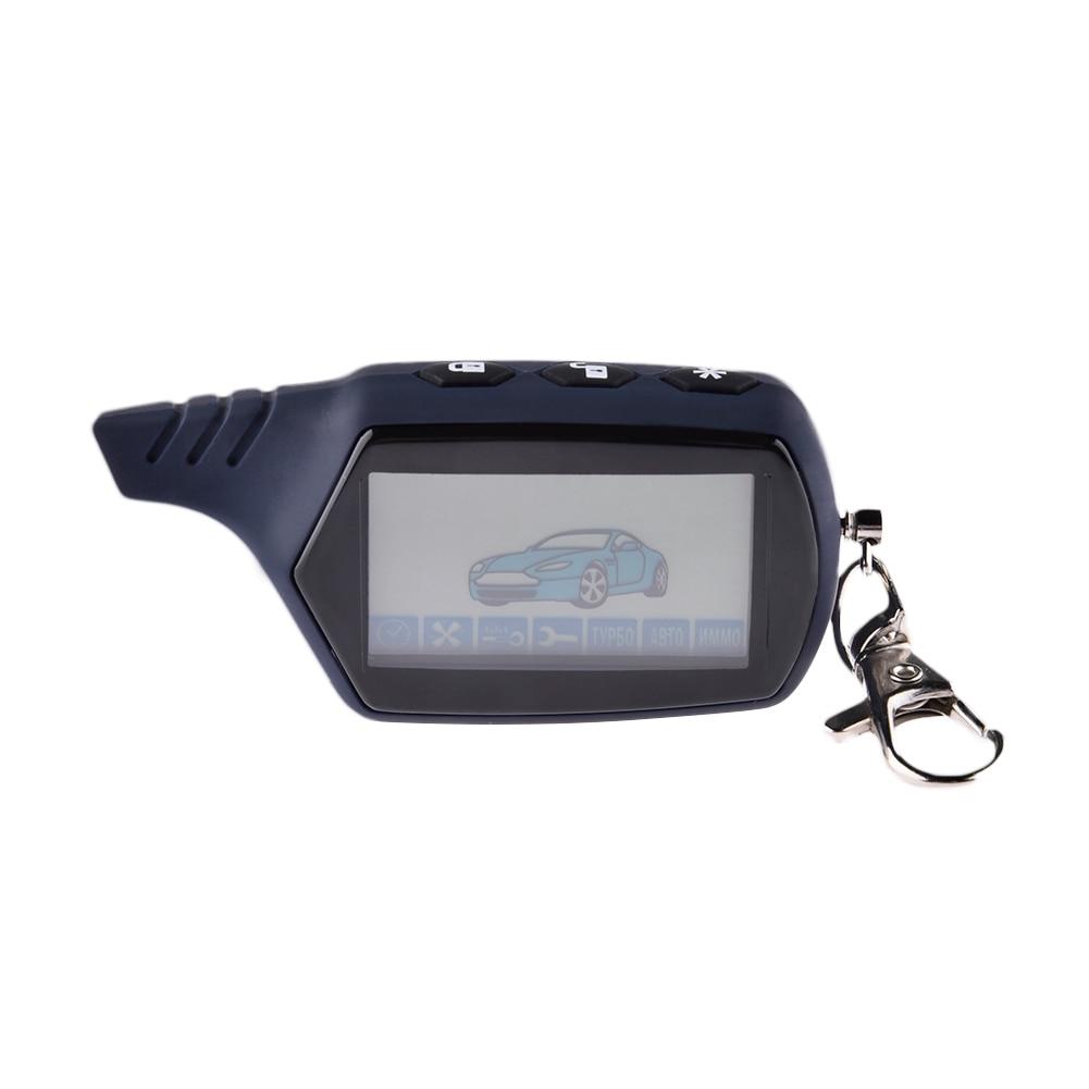 LCD controlador remoto 2 alarma del coche clave para Starline 91 arranque del motor Starline A91 Fob Keychain cuerpo remoto