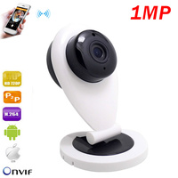 Newest White HD Mini Wifi IP Camera Wireless 720P Smart P2P Baby Monitor Network CCTV Security