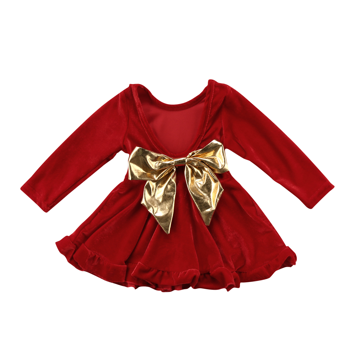 Buy girls red velvet dress and get free shipping on AliExpress.com 26b3603c5ec4
