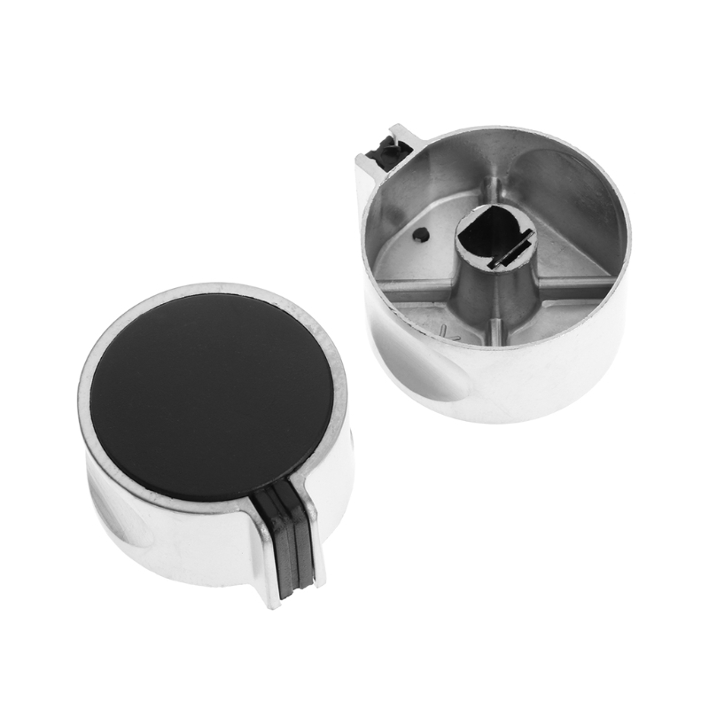 2Pcs Upward Gas Stove Cooler Oven Metal Switch Control Knob Cover Kitchen Universal New Cooktop Parts 4pcs set 8mm rotary switch gas stove parts stove gas stove knob stainless steel round knob knob for gas stove