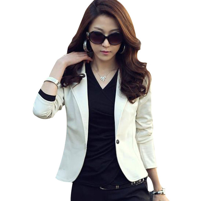Suits 2016 New Autumn blazer Women Suit fashion Slim small suit blazer feminino OL casual veste tailleur femme Plus Size