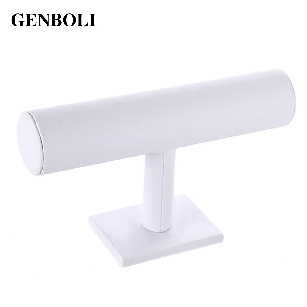 GENBOLI T-Bar Bracelet Watch Display Jewelry Packaging Rack Necklace Hair Bands Headband Stand Organizer Holder