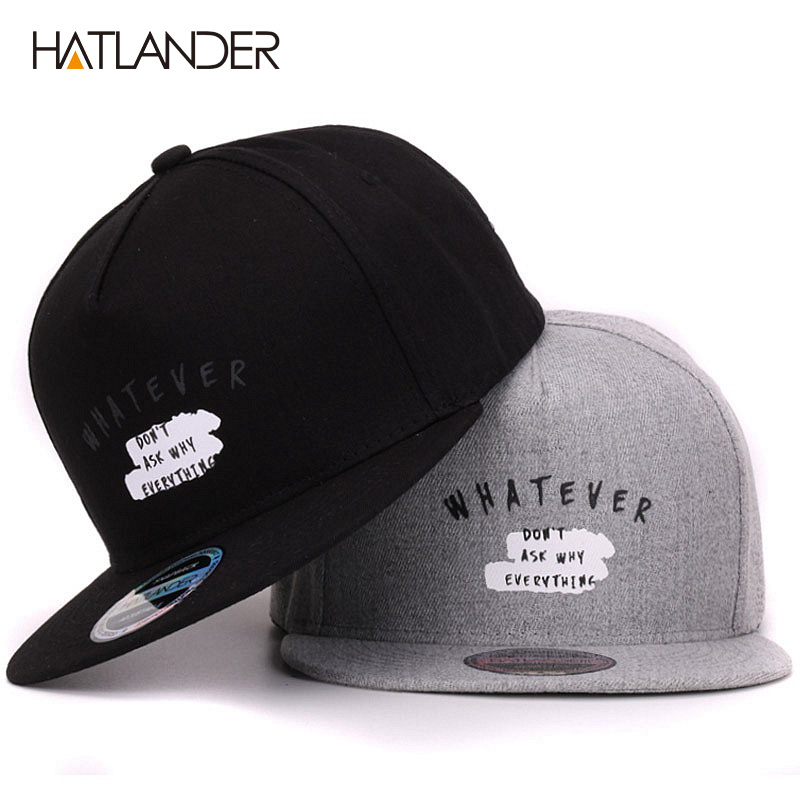 [HATLANDER]Solid Letter cotton baseball caps for men women outdoor sports hats 5panel hip hop cap casquette planas snapbacks cap hot sell new autumn fashion men baseball caps snapbacks hip hop hats for women men bone letter casual casquette caps
