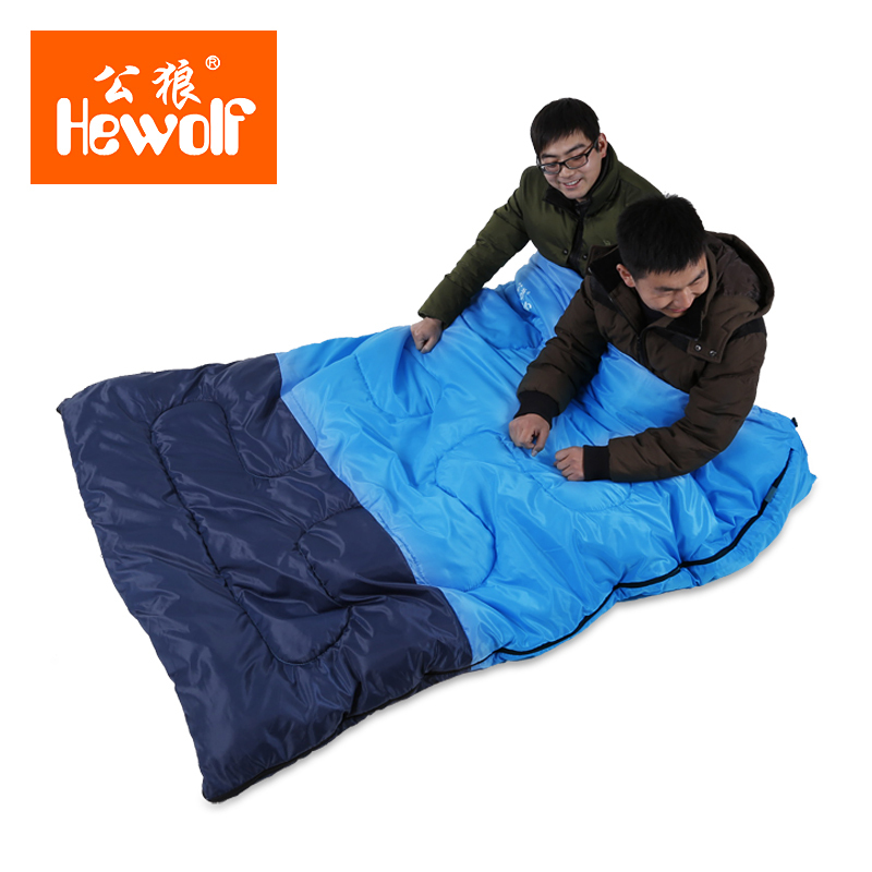 Us 34 9 Hewolf Ultralight Cotton Filling Comfortable 2 8kg Three Season Person Sleeping Bag Can Turn To Two In Bags From