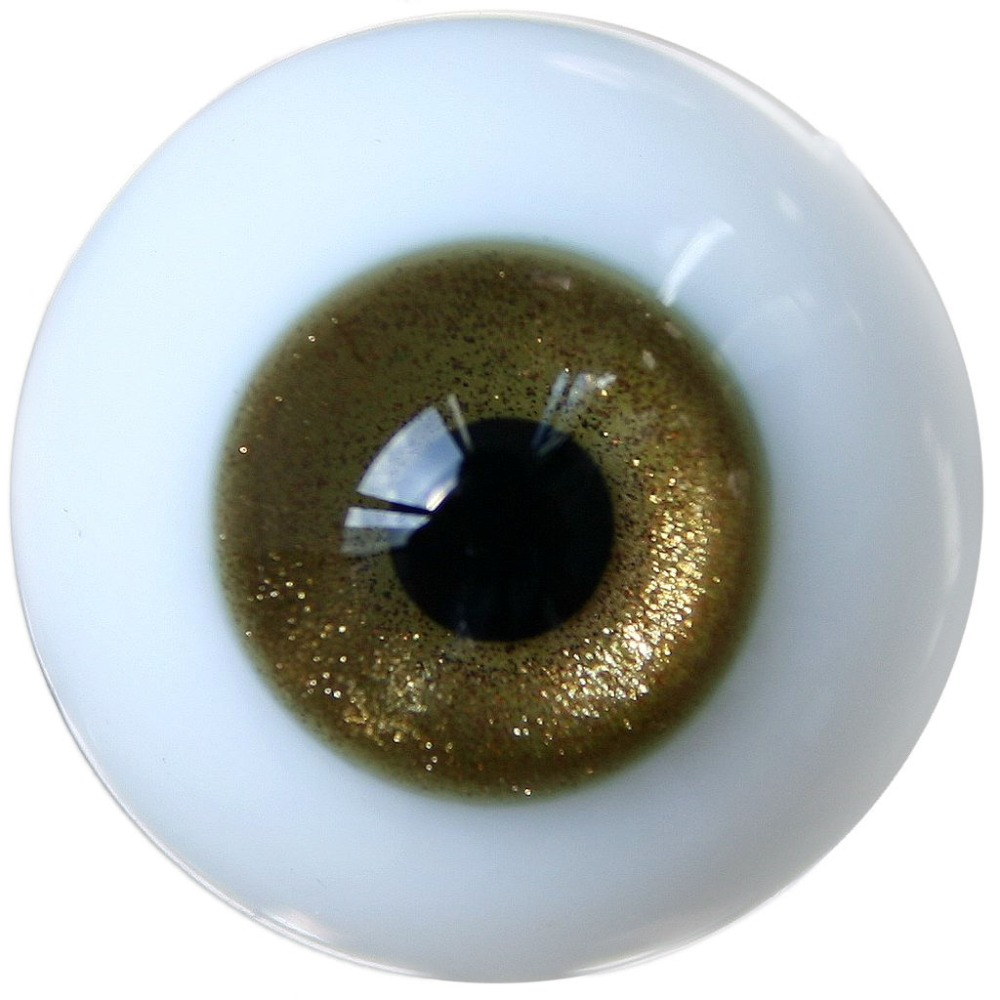 ET17# 12mm Bling Dark Yellow MSD DOD BJD Doll Dollfie Glass Eyes Outfit [wamami] 12mm dark green for aod msd sd luts bjd doll dollfie glass eyes outfit