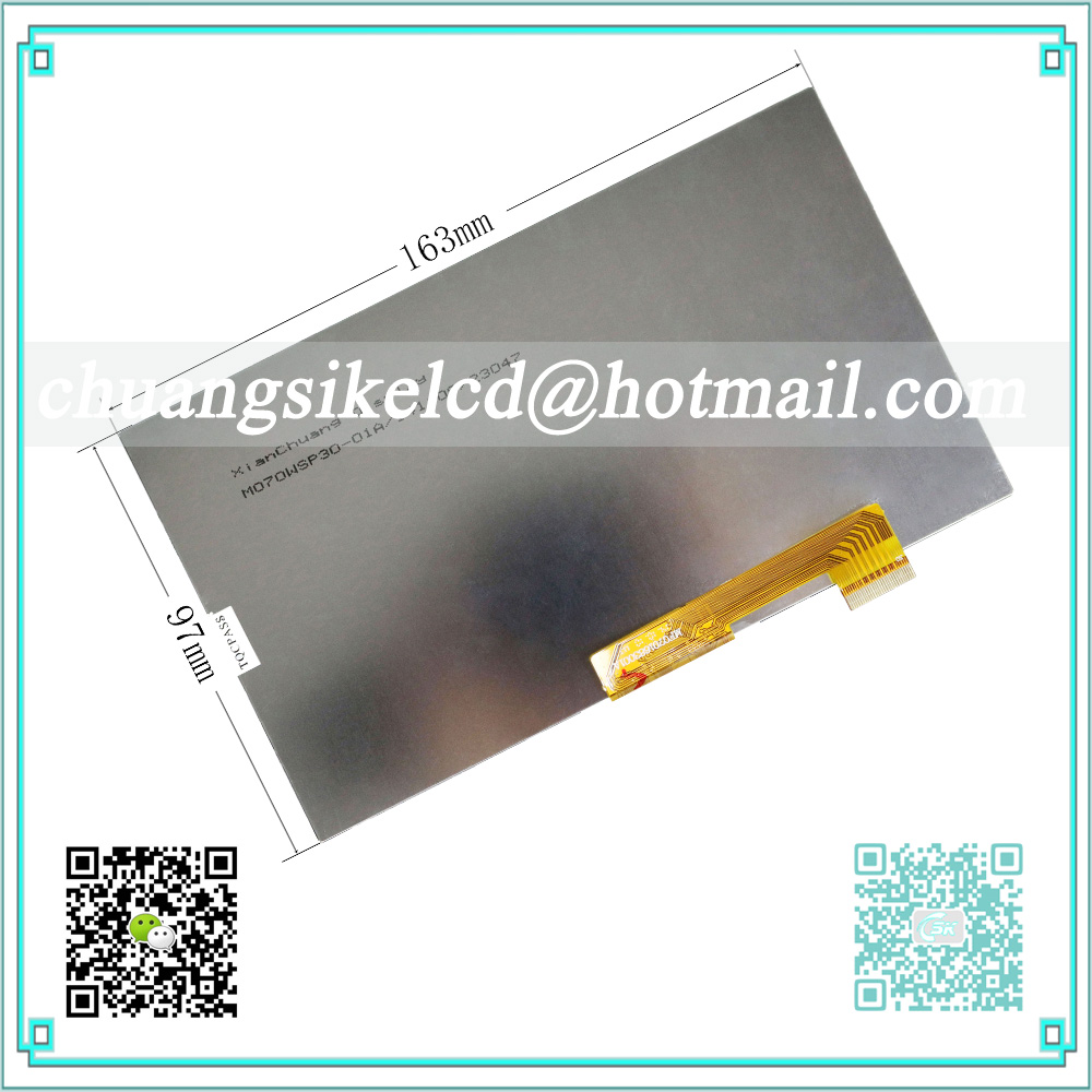 LCD Display Matrix For 7 Supra M72KG TABLET inner 1024*600 LCD Screen Panel Lens Frame replacement
