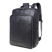 2017 NEW PU large space men's leather backpacks male students casual for school shoulder bags casual bags mochilas gravity fal