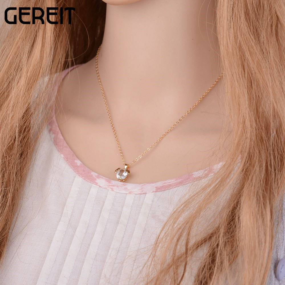 GEREIT New Trendy Simple Gold Silver Plated Chain Small Romantic ...