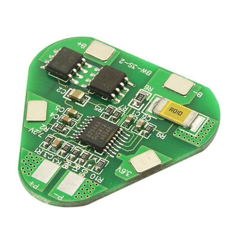 3S 4A Li-ion Li-Po Prismatic Cylindrical Lithium Polymer Battery 3 Cell PCB Module Board Short Circuit Overcharge Protection BMS