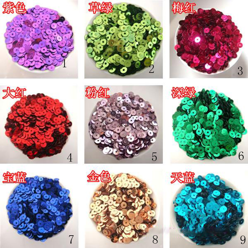 About 12000Pcs 100g New DIY 4mm Sparkling Round Loose Sequins - Arts, Crafts and Sewing