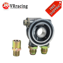 VR RACING – FREE SHIPPING OIL COOLER FILTER SANDWICH PLATE THERMOSTAT ADAPTOR 3/4″ 16-UNF With AN10 fitting Oil Adapter Sandwich