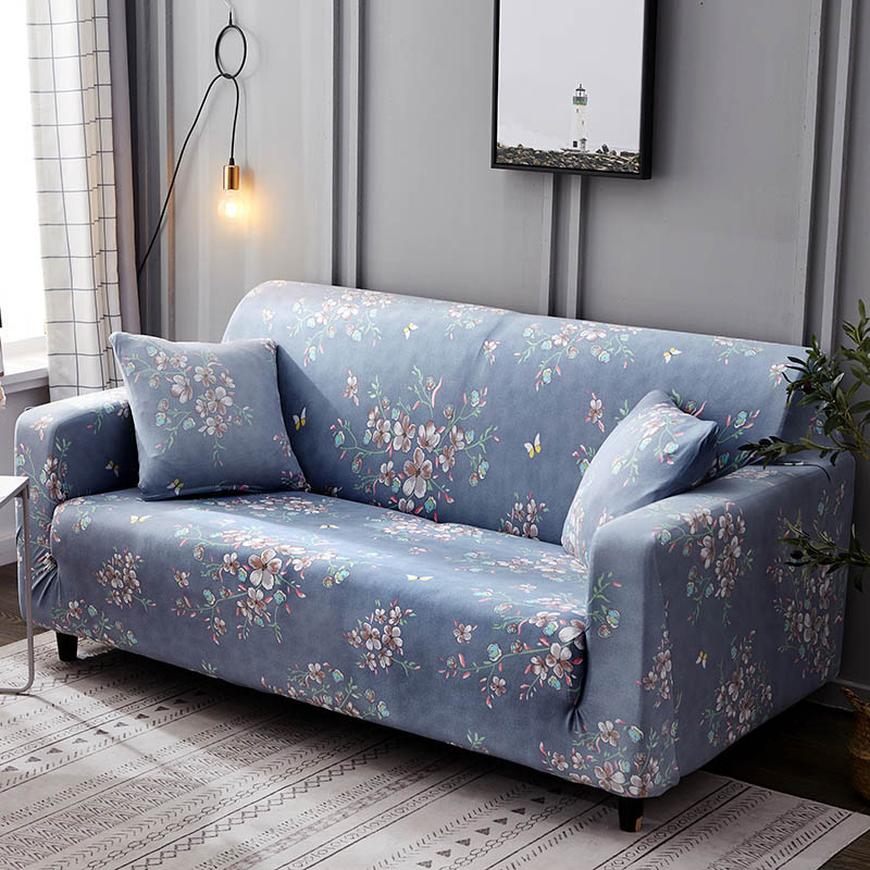 Polyester Couch Cover in Leaf and Flower Pattern for Single to 4 Seated Sofa in Living Room 5