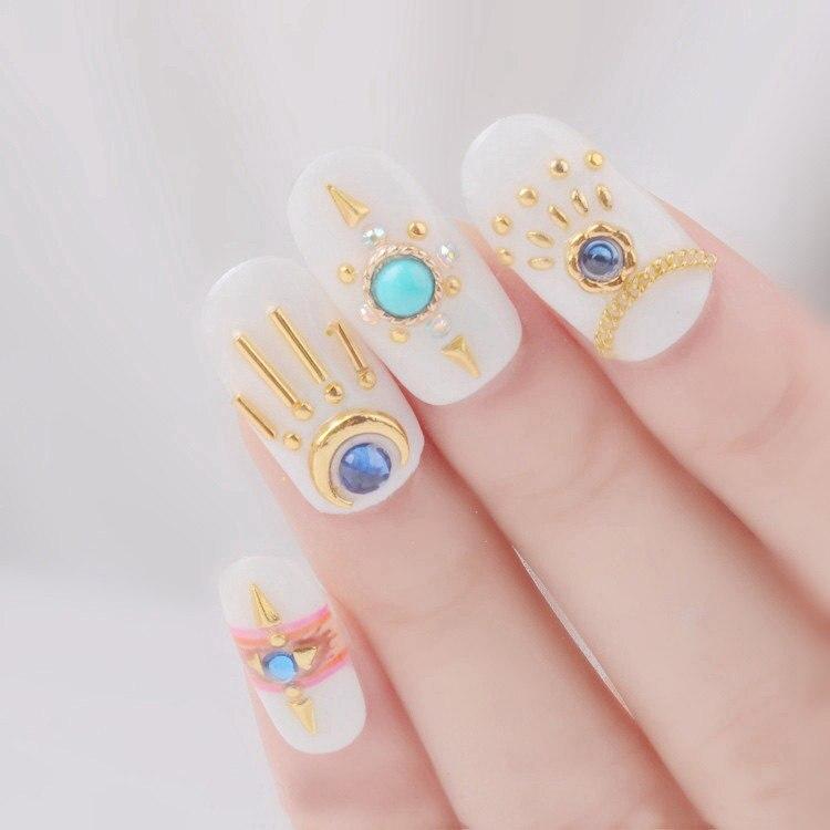 Aliexpress.com : Buy 100pcs/lot Fashion nail accessory Metal Cone ...