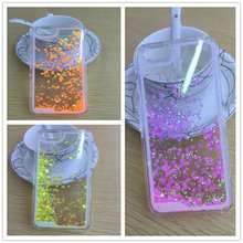 Ultra Thin Clear Back Case For iphone 6 4 7 Liquid Glitter Bling Sand Star Quicksand