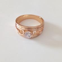 unidades nuevo joyas de oro las mujeres la moda de joyera de diseo hueco de oro rosa anillos de la manera de las mujeres y los hombres