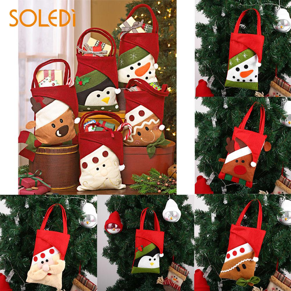 Novelty Christmas Candy Bag Non-woven Gifts Dessert Storage Pouch Holder Party