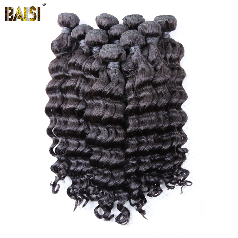 BAISI Hair Brazilian Natural Wave Remy Hair Bundles 100 Human Hair 10 Bundles Wholesale Deal