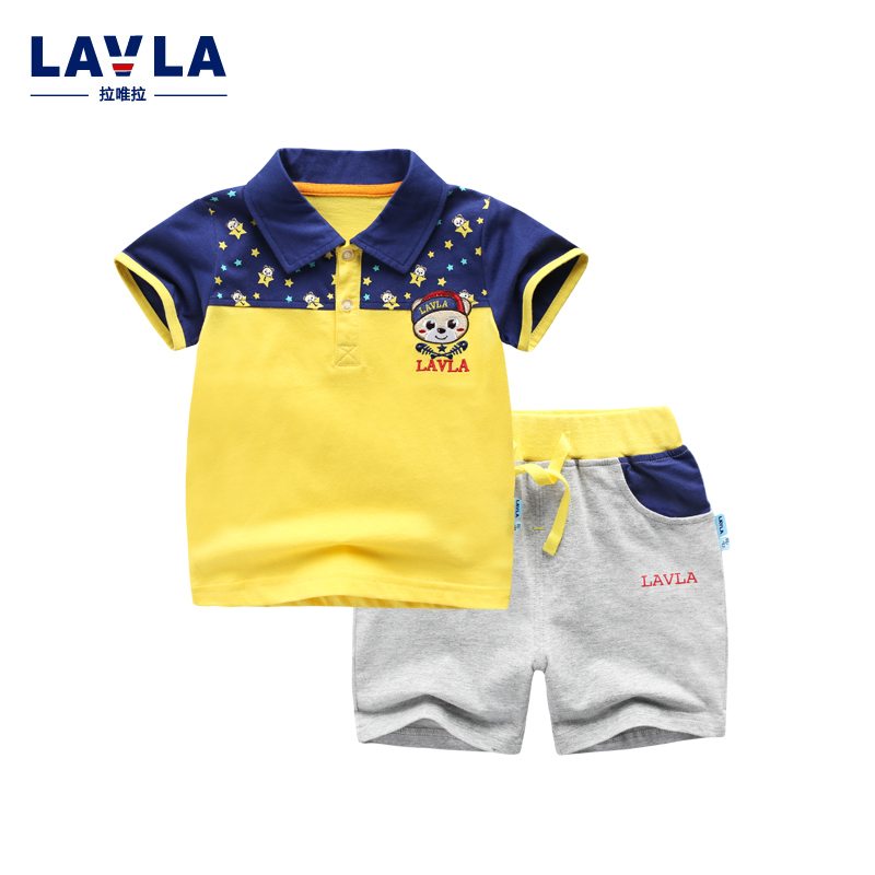 Lavla 2016 New Fashion Baby boys clothes sets summer kids girls children polo shirts Tees +shorts set cartoon outerwear clothes trendy children t shirt boys girl t shirts tees short sleeve shirts summer kids tops cartoon baby boy girls clothes