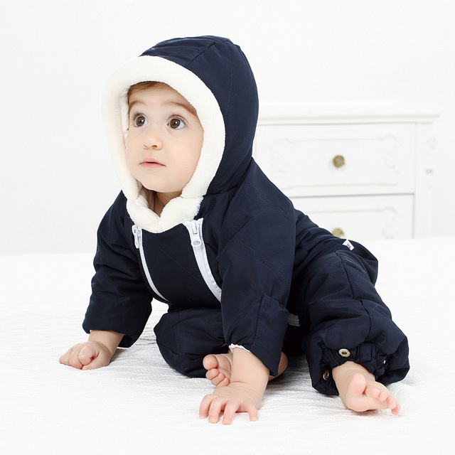 Winter Baby Boy/Girl Snowsuit Designed for Russian Winter/Newborn Snowsuit Baby Winter Rompers Jumpsuit Baby Hooded Snow Wear