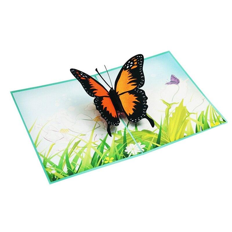 3d pop up greeting card handmade butterfly wedding