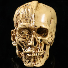 MRZOOT Resin Craft Art Painting Statues For Model Replica Decoration Skull Creative Sculpture Home Accessories