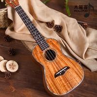Koa Acacia All Solid Concert Tenor Deluxe Ukulele With Abalone 23'' 26 ''Inch Molokai