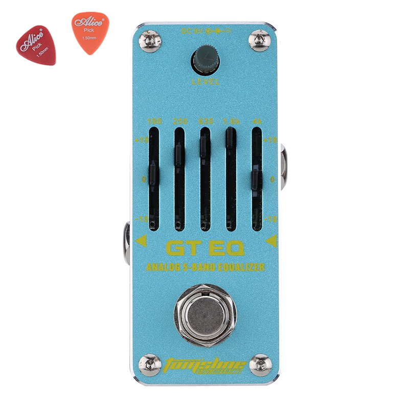 Aroma AEG-3 GT EQAnalogue 5 Band Equalizer Guitar Effect Pedal Mini Volume With True Bypass Volume Control Guitar Parts aov 3 ocean verb digital reverb electric guitar effect pedal aroma mini digital pedals with true bypass guitar parts