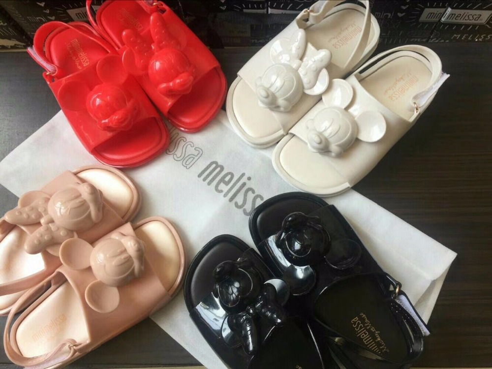 mini melissa 2018 mickey shoes summer new jelly sandals girl boy sandals children sandals mini melissa children shoes 14-18CM