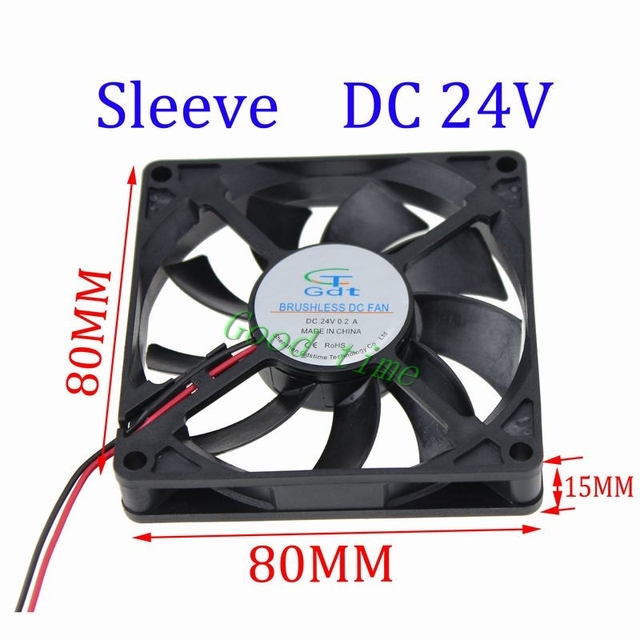 Gdstime 10 Stücke Bürstenlose Dc Lüfter Hülse 24 V Fans 8 Cm 80mm X 80mm