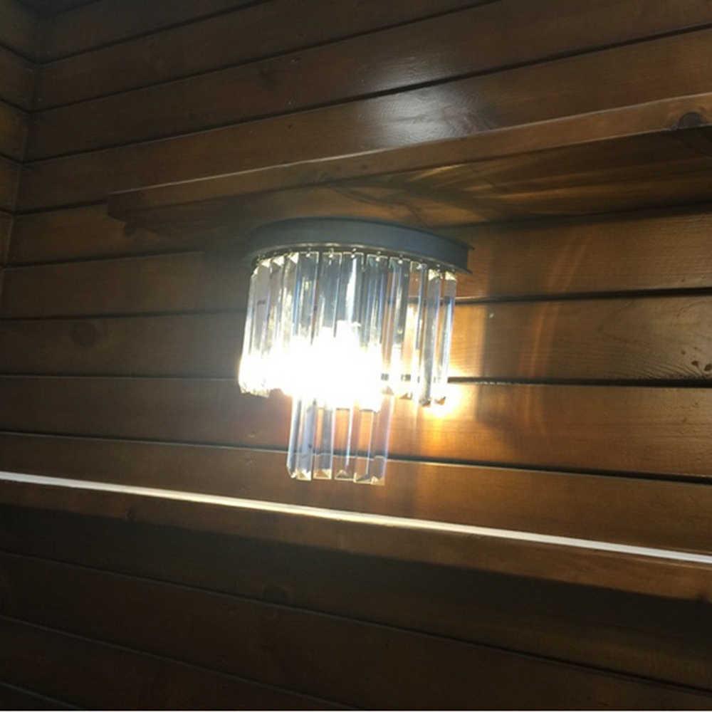 Настенный светильник кристалл современные декоративные настенные светильники прихожей Винтаж Кристалл Бра огни E14 LED бар Крытый настенный светильник