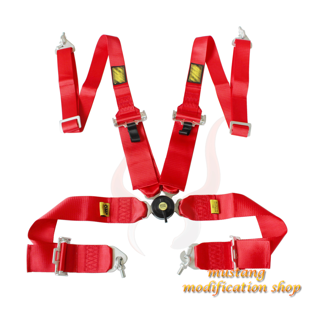 universal FIA 2021 quick release 3 inches 4 point car accessories seat seat belt buckle blue red black fia deluxe