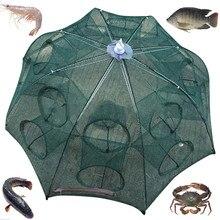 world-wind new   14-16 Holes Automatic Folding Fishing Net Shrimp Cage Nylon Foldable Crab Fish Trap Cast Net Cast Folding p5