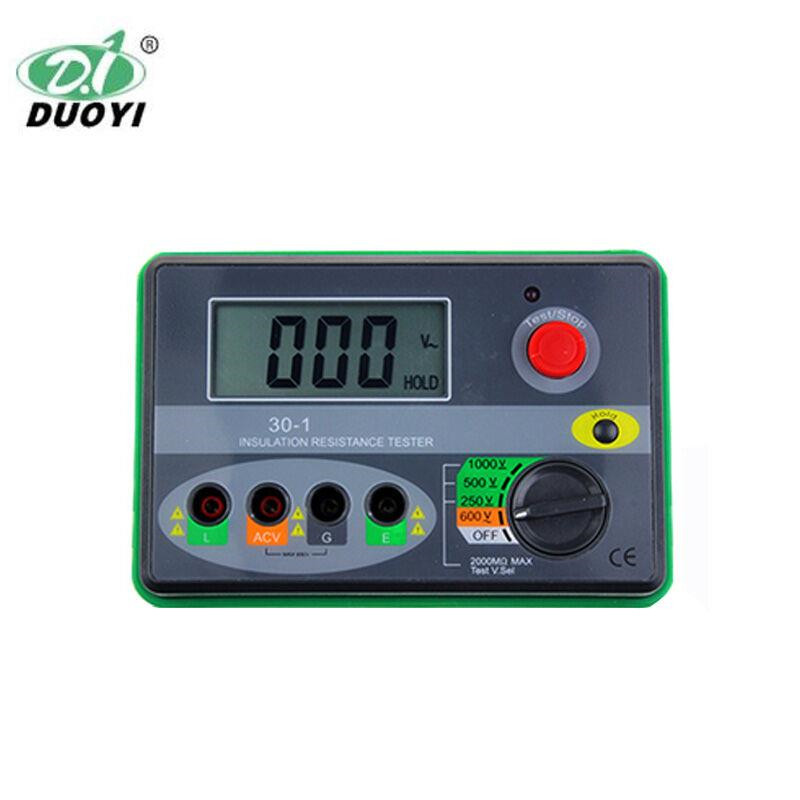 Digital Insulation Resistance Tester Digital Megohmmeter DY30-1 1000V / 2000M Ohm цена