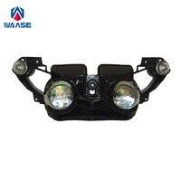 Waase мотоциклетные передняя фара головной свет лампы сборки для Yamaha YZF R1 2009 2010 2011 2012 2013 2014