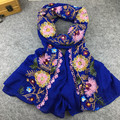 Ethnic Style Embroidered Scarves and Shawls for Women Fashion Design Muslim Hijab Bandana and Pashmina for Ladies Size 90 x 180