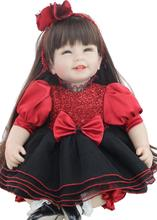 sanydoll hot new reborn silicone baby children s toys magnet pacifier 22 inch 55 cm cute cowboy dress doll 55 cm princess silicone boneca reborn baby doll toys for children 22 inch cloth body baby  dolls brinquedo toys for girls