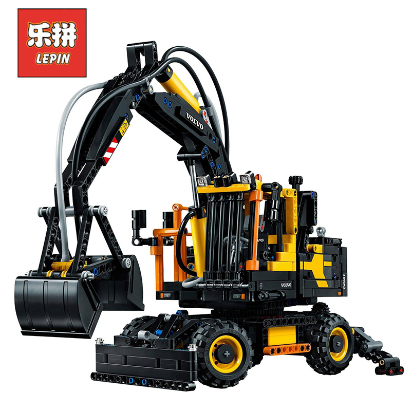 In Stock DHL Lepin Sets 20023 1166Pcs Technic Figures Excavator Ew160E Model Building Kits Blocks Bricks Educational Toys 42053 in stock dhl lepin set 21010 914pcs technic figures speed champions f14 model building kits blocks bricks educational toys 75913