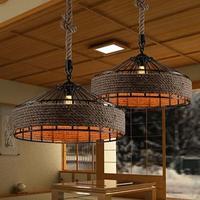 Ретро RH промышленные подвесные светильники свет железная веревка для склада Винтаж подвесные светильники E27 лампочки Edison AC110V/AC220V освещение