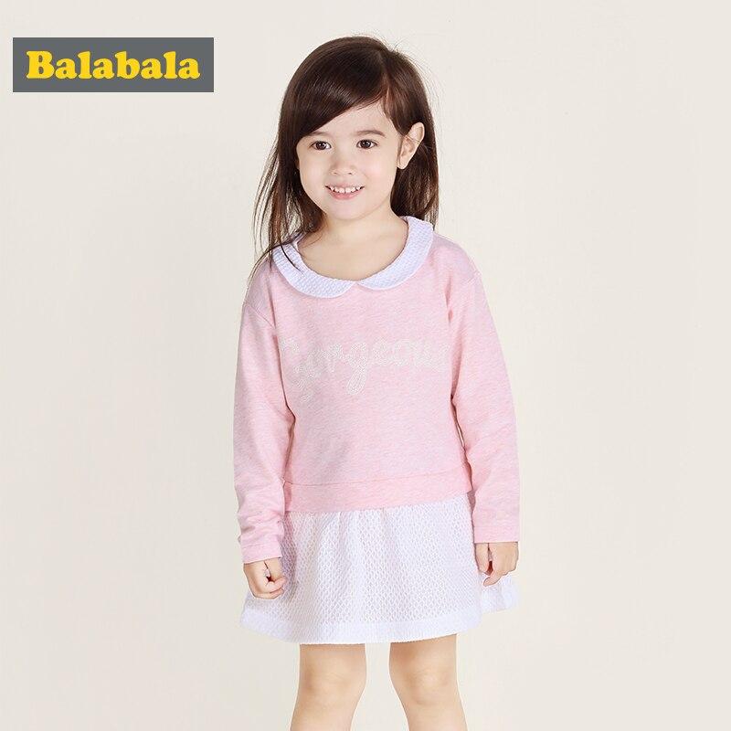 Balabala mädchen Kleid 2018 Sommer mode Baumwolle Mädchen Kleidung kleider A-Line Prinzessin Kleid Kinder langarm kleidung kostüm