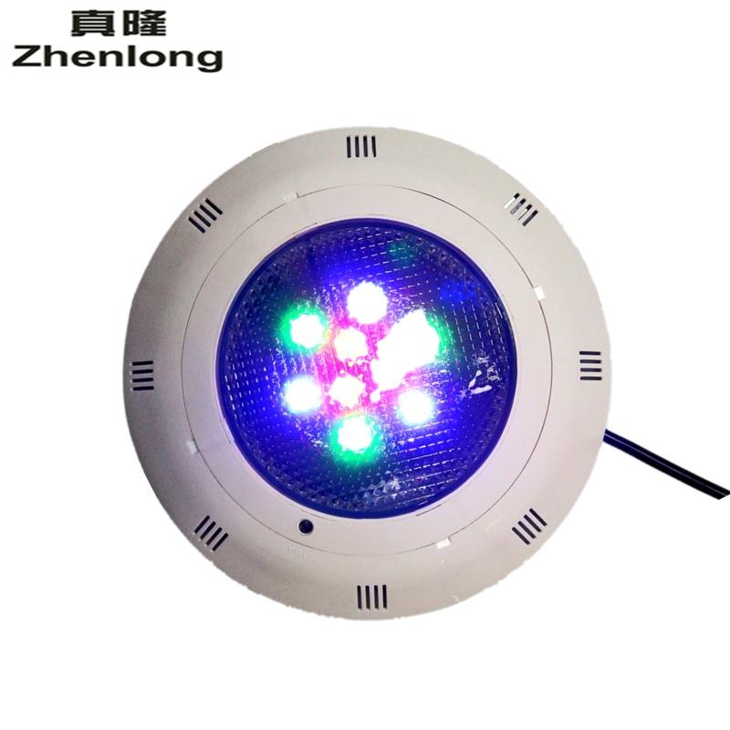 Zhenlong 9W RGB LED Swimming Pool Lamp Underwater Light Fountain Spotlight Lamp with 12Key /12Key Remote Control AC12V