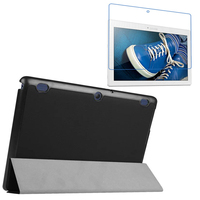 1x Clear Screen Protector Luxury Ultra Slim Magnetic Folio Stand Leather Case Smart Cover For Lenovo