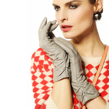 Warmen leather gloves women sheepskin wrist lady Genuine fashion  winter warm