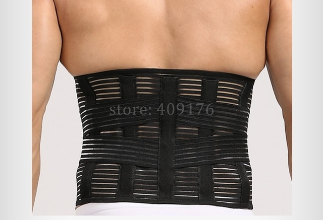 Slimming Waist Trainer Girdle Sweat Band Men Back Corrector Tummy Trimmer Abdominal Belt Double Compression Control 0365 3