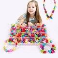 Niños colores del caramelo diy use pulsera perlas ambliopía juguetes para niños forma geométrica rompecabezas personalizados