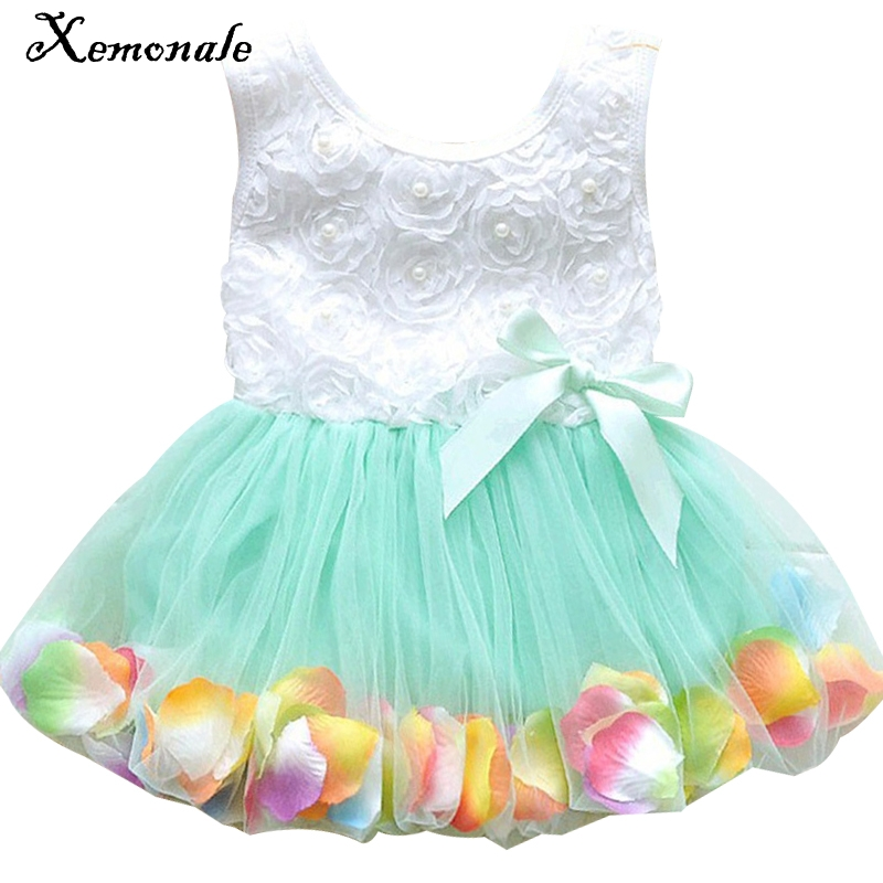 Xemonale Kid Girls Princess Hot Sales Toddler Baby Party Tutu Lace Bow Flower Dresses Clothes 2017 fashion summer hot sales kid girls princess dress toddler baby party tutu lace bow flower dresses fashion vestido