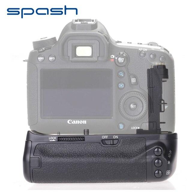 Poignée de batterie verticale multi puissance spash pour Canon EOS 6D remplacement de caméra BG E13 support de batterie professionnel travail avec LP E6
