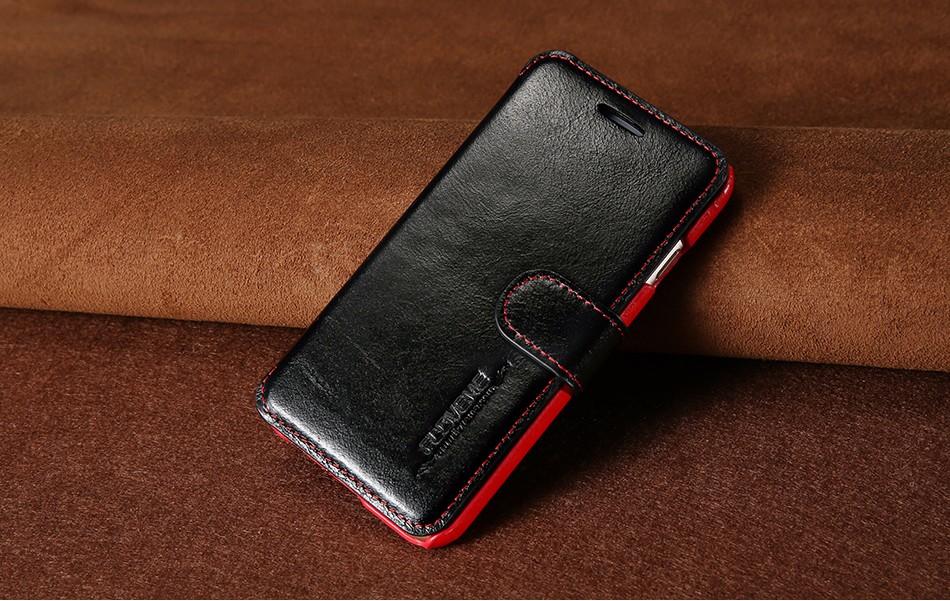 Floveme vintage klapki skóra case dla iphone 7 6 6 s pokrywa z karty uchwyt luksusowe wallet case for iphone 7 7 plus 6 6 s plus capa 8